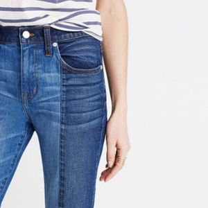 Madewell cruiser straight two tone jeans sz 30